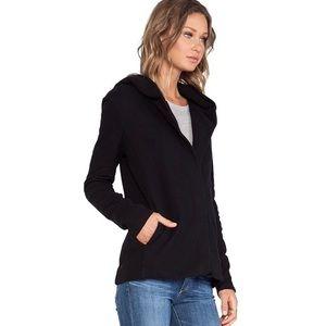 JAMES PERSE Black Hooded Full Zip Sweatshirt